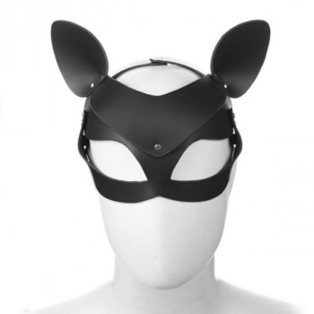 Adjustable Leather Foxes Mask